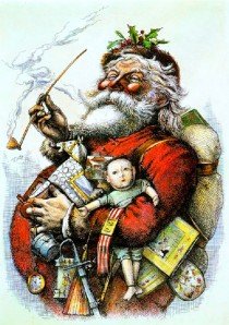 Santa Claus by Thomas Nast, 1880.